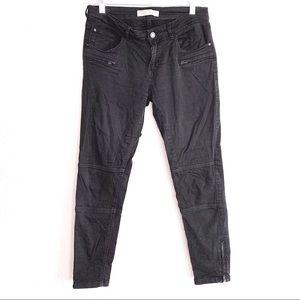 Zara Skinny Moto Jeans with Zip Detailing